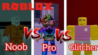 NOOB vs PRO vs GLITCHER (Mad City) *FUNNY* (ROBLOX)