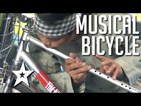 Vietnamese Man Makes Music With His Bike | Got Talent Global