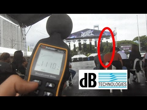 dB Tech LINE ARRAY TEST VIO