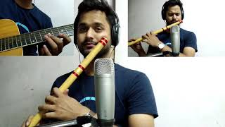 #emptiness#flute  emptiness (GajendraVerma song) tune mere Jaana flute and guitar instrumental cover