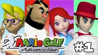 Mario Golf Advance Tour Walkthrough Part 1: Kings Of Swings (With Commentary)