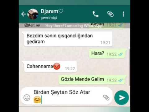 Whatsapp status ucun Qisqanc Seglilim