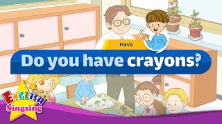 [Have] Do you hąve crayons? - Easy Dialogue - Role Play