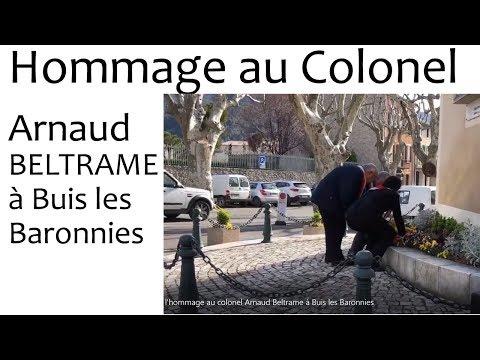 Sem14   l'hommage au colonel Arnaud Beltrame à Buis les Baronnies