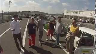 2014年9月14日 筑波サーキットで行われた MINIのフリー走行会 三和トラ...