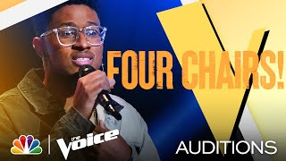 "Zae Romeo's Vulnerable Performance of Harry Styles' ""Falling"" - The Voice Blind Auditions 2021"