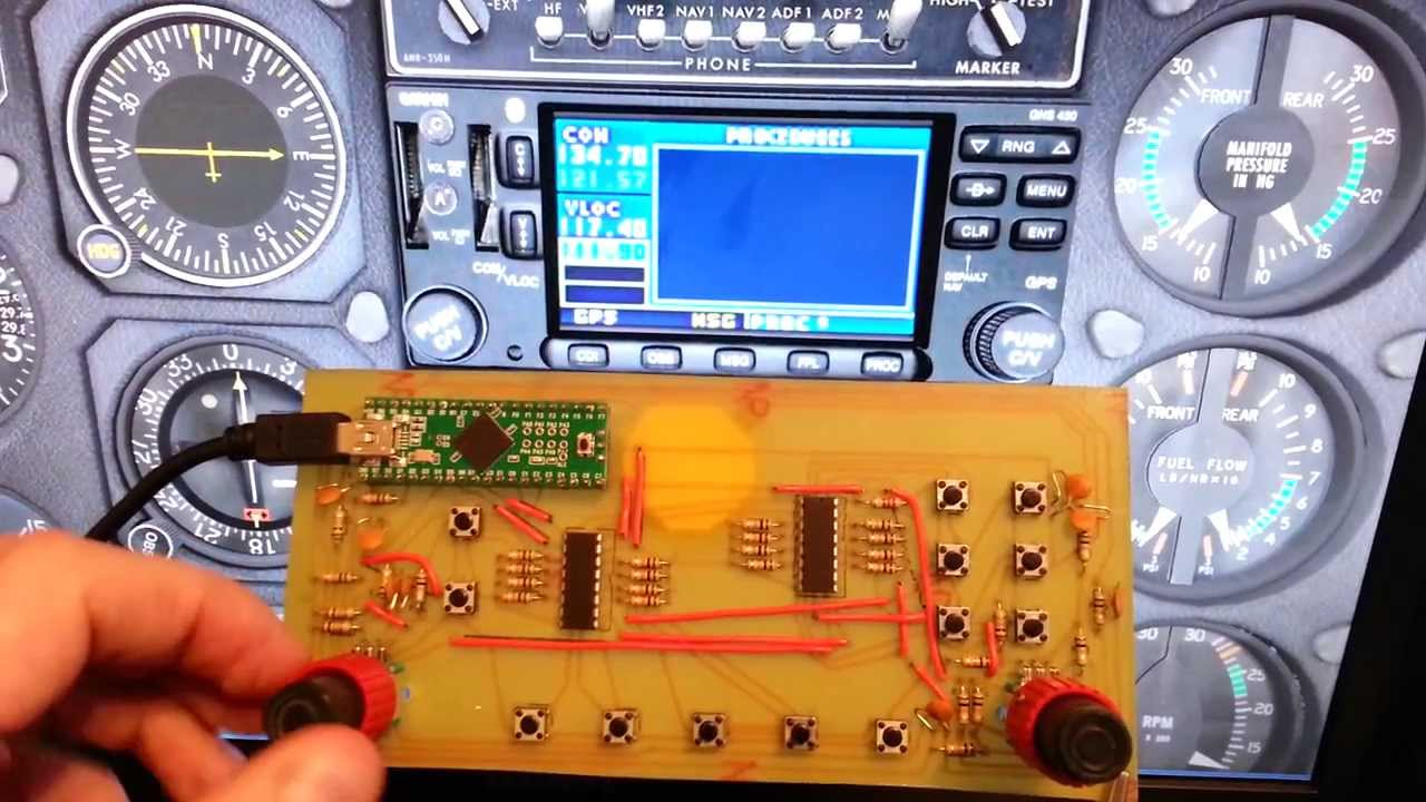G430 interface board for XPlane simulator