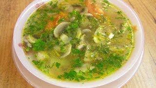 Постный картофельный суп с грибами - видео рецепт