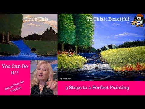 Part 3 Acrylic Painting Secrets to a perfect painting, tips and tricks to help beginners improve
