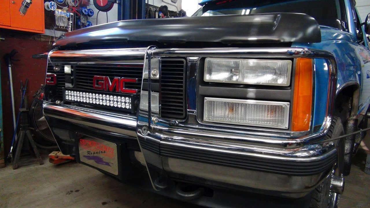 Led lightbar install on the old truck youtube aloadofball