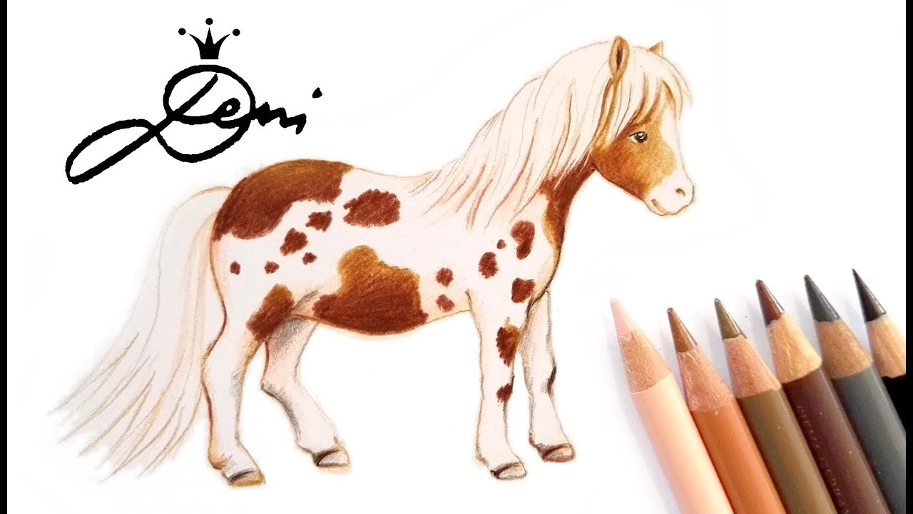 Pony zeichnen falabella malen how to draw a little pony comment dessiner un poney youtube - Apprendre a dessiner my little pony ...