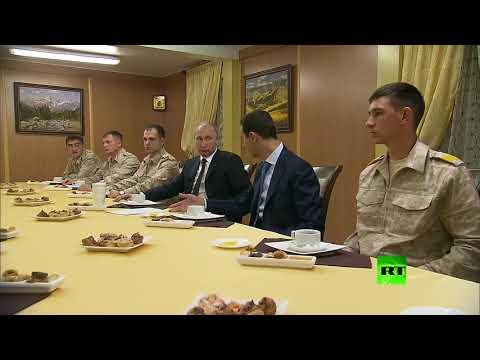 بوتين في جلسة شاي مع الأسد وشويغو في حميميم  - نشر قبل 2 ساعة