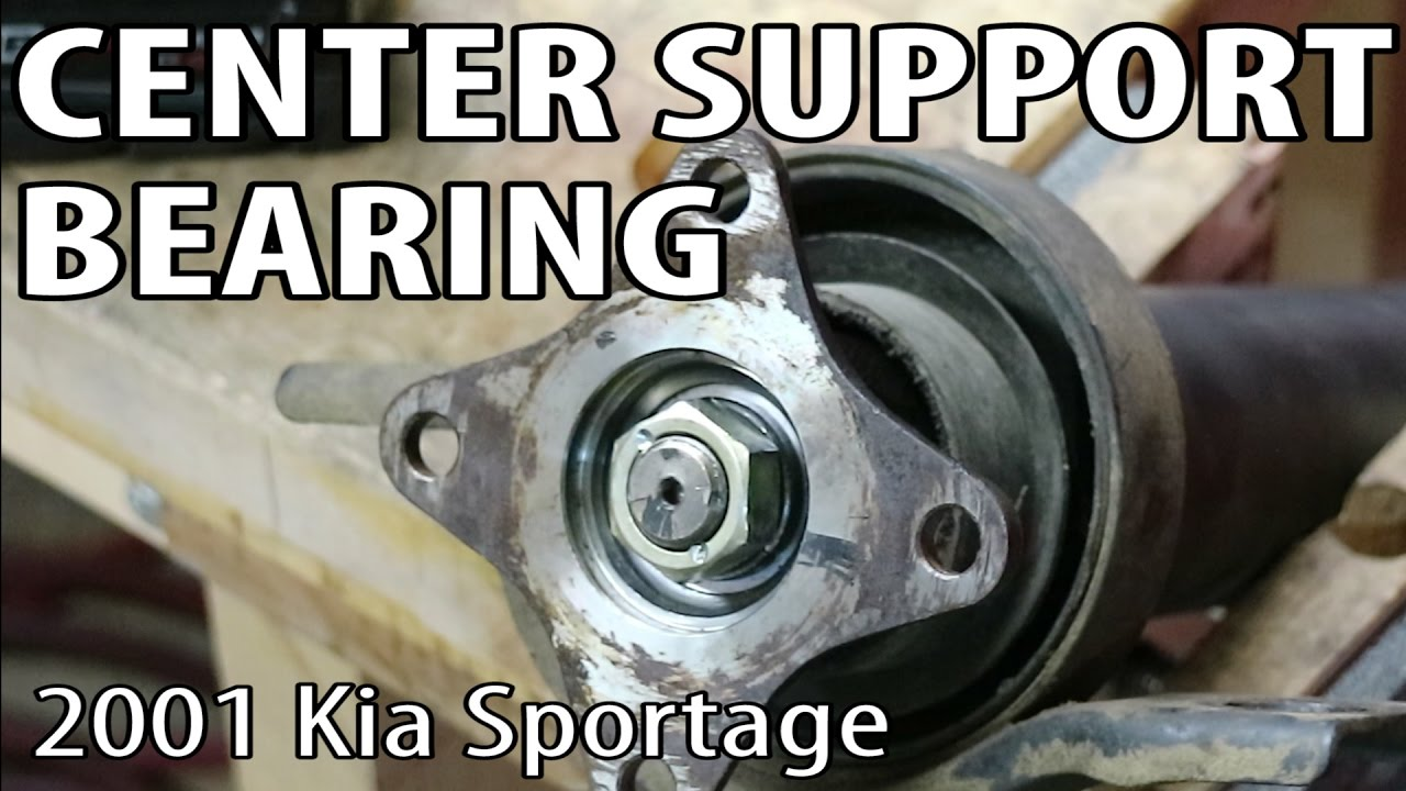 How to Change a Driveshaft Center Support Bearing on a 2001 Kia Sportage