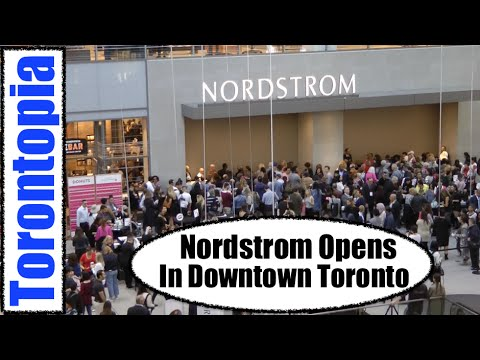 Nordstrom Opens In Downtown Toronto - Bring lots Of Money!