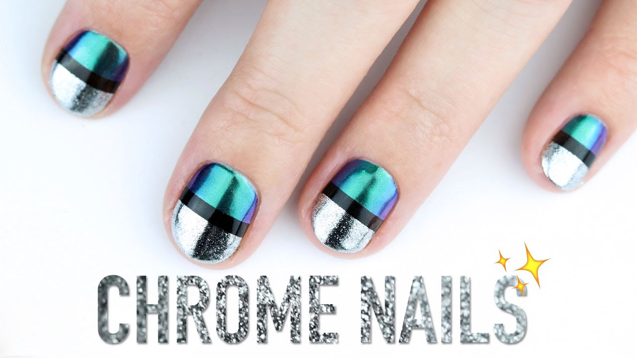 Chrome NAIL ART! - Chrome NAIL ART! - YouTube