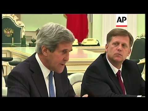Kerry meets Putin, says Russia and US share common interests