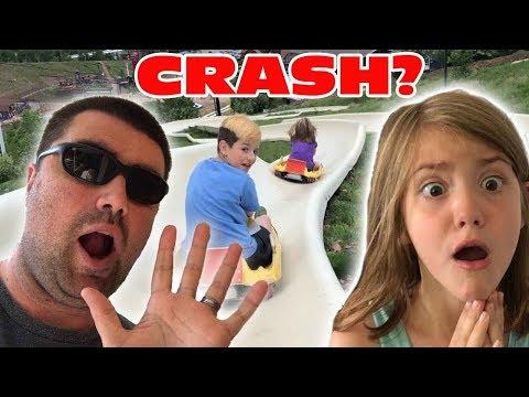 Kid Temper Tantrum Crashes On Alpine Slide Into Sister