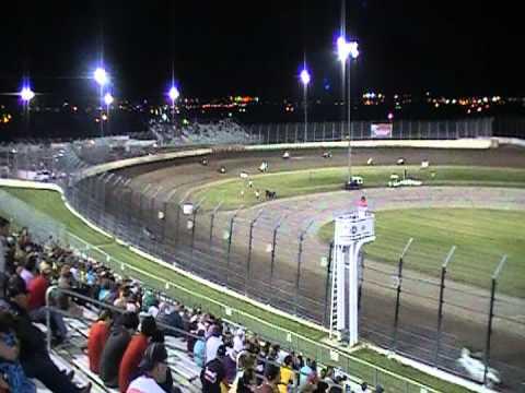 USAC Midgets at Dodge City Raceway Park 2012 - YouTube