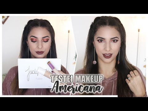Testei Makeup AMERICANA! | FENTY / MORPHE / TARTE
