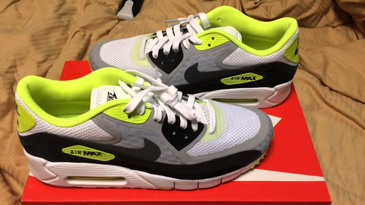 lime green nike air max 90