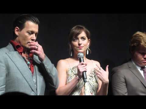 Black Mass Premiere Johnny Depp Dakota Johnson TIFF 2015 -- Video 2