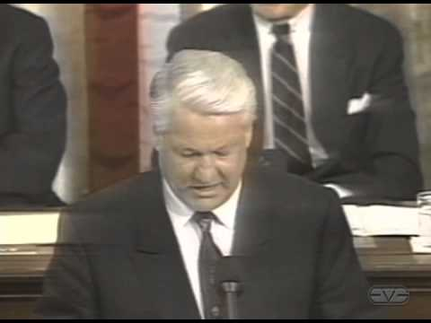 Boris Yeltsin Histroic Address to U.S. Congress