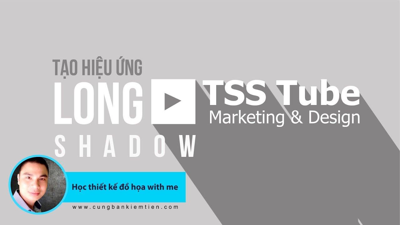 Photoshop Tutorials: Tạo hiệu ứng Long Shadow cho chữ và logo trong Photoshop