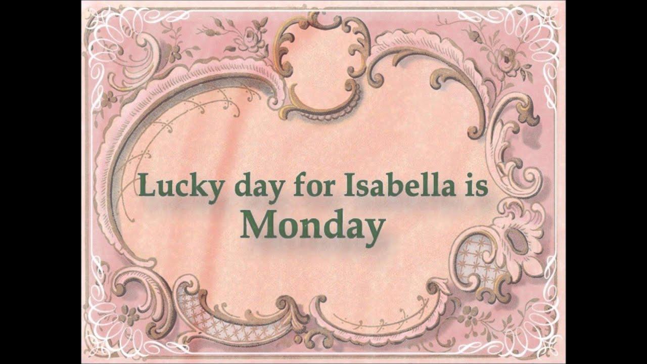 Name Isabella - YouTube