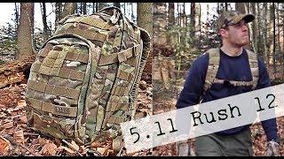 5.11 Rush 12 Multicam Vorstellung, kleiner Militärischer Rucksack (4K)