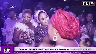 NOLLYWOOD STARS ON THE DANCE FLOOR AT ABIMBOLA AND OKIKI AFO