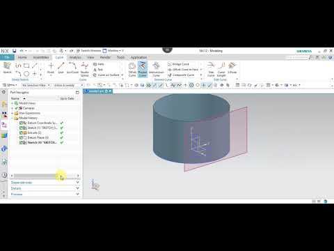 NX 12.0 Tutorial Tamil 20 : Project Curve | Sketch | NX | Unigraphics