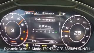 2017 audi a4 2 0t dsg quattro 0 60 mph 0 100 kph acceleration launch 252hp b9