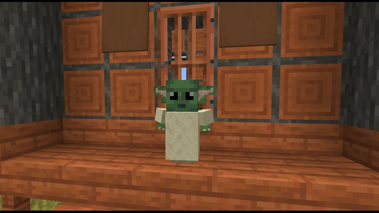 Minecraft Player Is Adding Baby Yoda To The Game