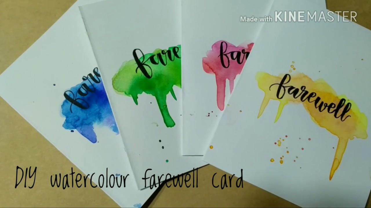Diy watercolour farewell card youtube diy watercolour farewell card kristyandbryce Gallery