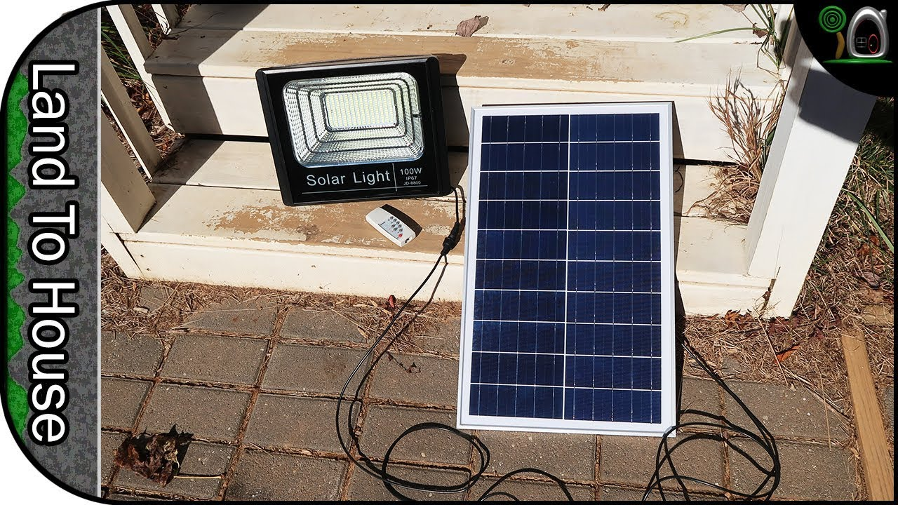100w Cyberdax Light With Solar Panel
