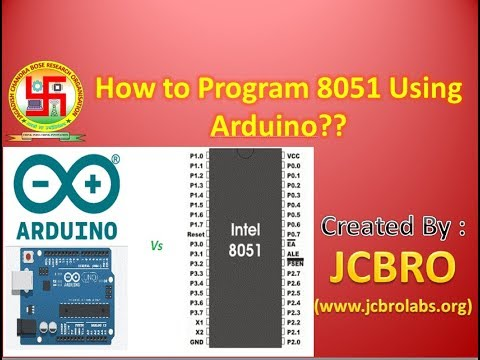 Program 8051 using Arduino