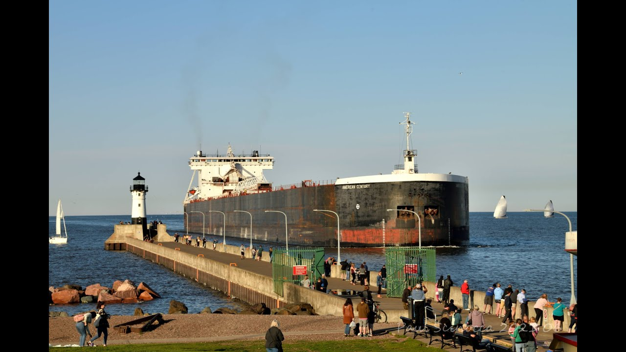 The screaming stops.....The American Century Arriving Duluth for coal June 02,2021