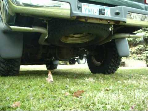 2000 ford ranger dual exhaust with a