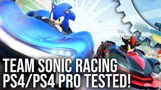 [4K] Team Sonic Racing: PS4/PS4 Pro Tested – A 60fps Sega Arcade Racer for Today's Consoles?