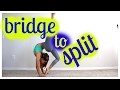 How to do a walkover into a split