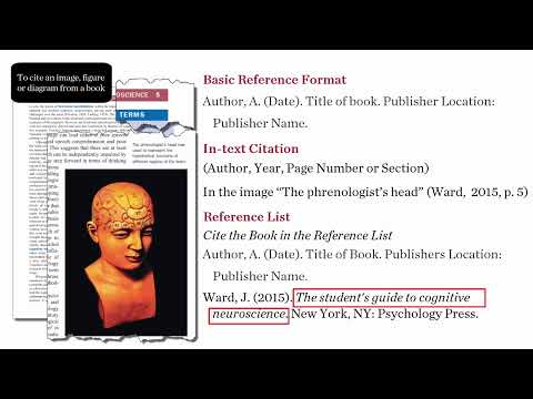 referencing images from books in apa style 6th ed youtube