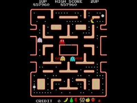 Ms Pacman - Final Empty Maze - Weird Title Screen