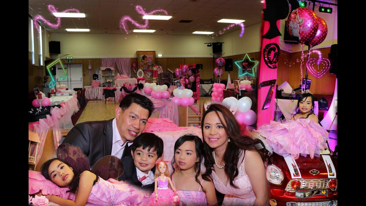 Barbie theme marie lexie 7th birthday celebration for Decoration ideas 7th birthday party