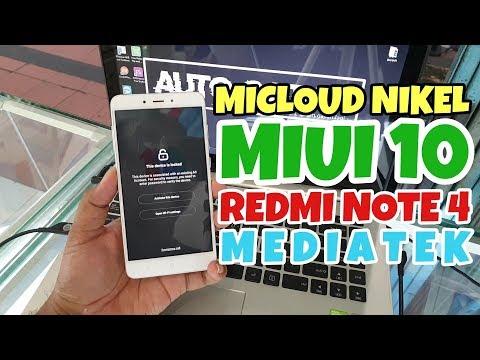 unlock-micloud-redmi-note-4-mediatek-(nikel)-miui-10-free-work-100%