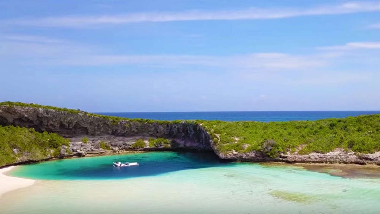Long Island, Bahamas: Beaches and Blue Holes - YouTube on