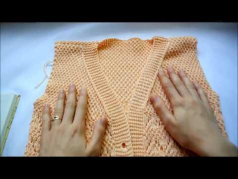 Вязание спицами кардигана или пиджака Урок 145