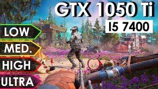 Far Cry New Dawn | GTX 1050 Ti + i5-7400 | Low vs. Medium vs. High vs. Ultra | 1080p