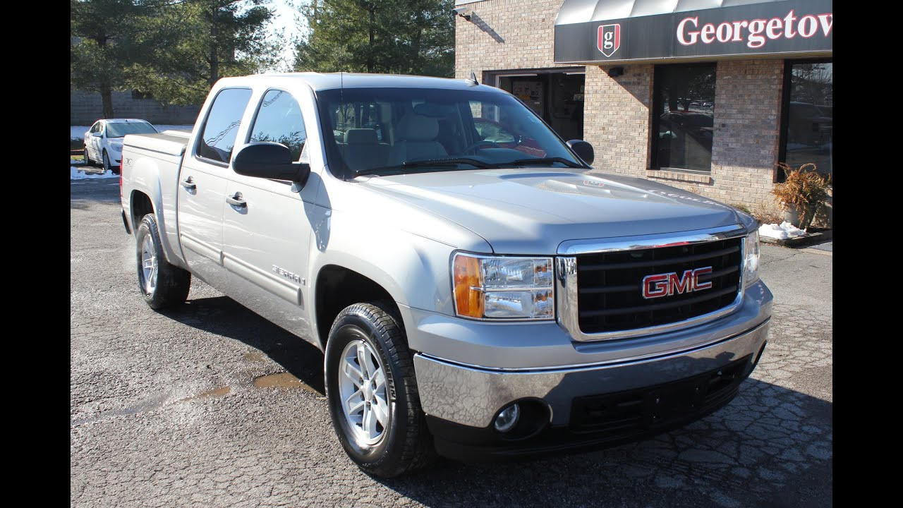 Used 2007 GMC Sierra SLE Silver Bed Cover for sale Georgetown Auto Sales Kentucky SOLD  YouTube