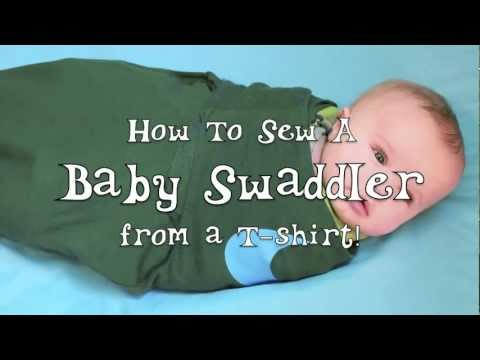 Sew A Baby Swaddler From A T Shirt Youtube