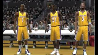 NBA LIVE 2005 GAMEPLAY (Denver nuggets vs Los angeles lakers)